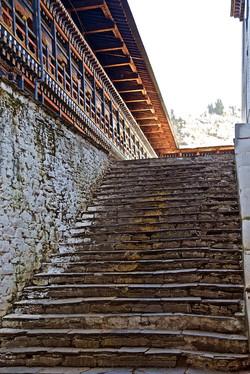 Bhutan - dzong stairway