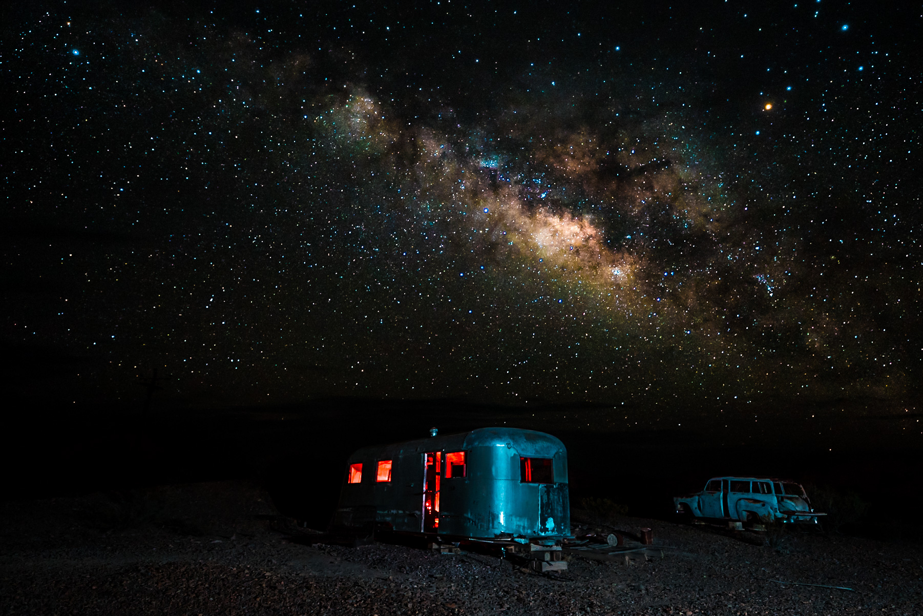 camping under starry skies