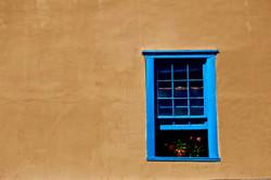 Santa Fe NM - blue window