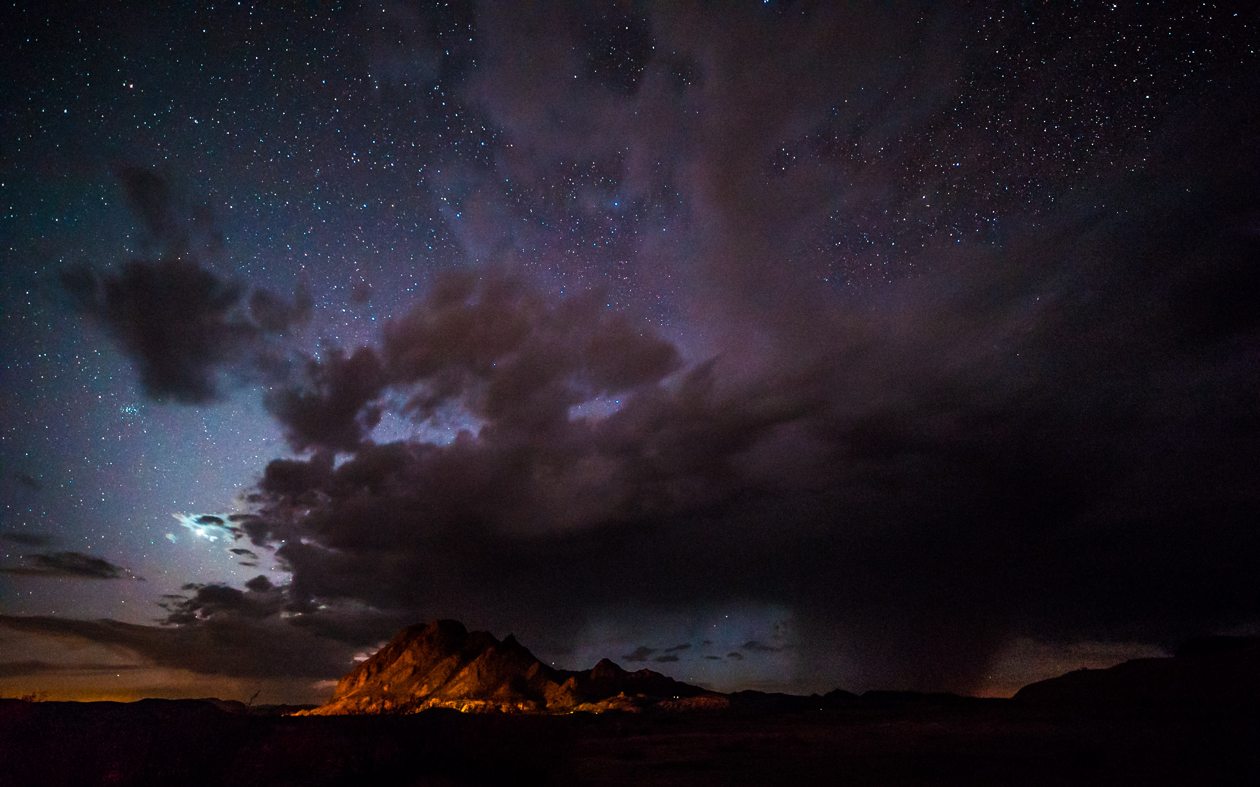 fire mountain & thunderstorm