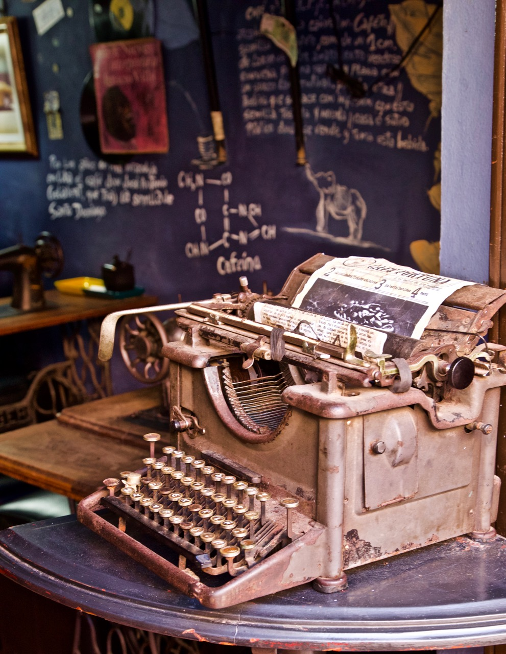 typewriter, Trinidad