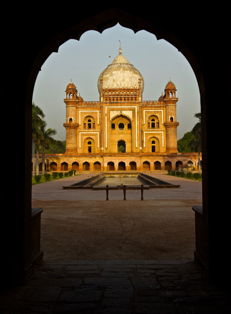India - Safdarjung's Tomb at sunrise