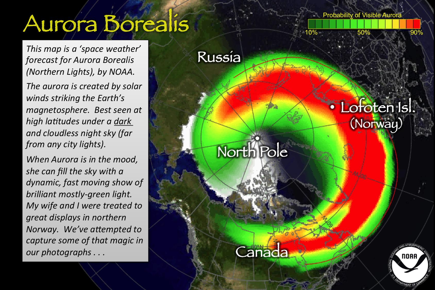 Aurora index map