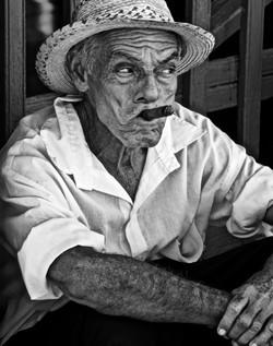 Cuban with cigar, Trinidad