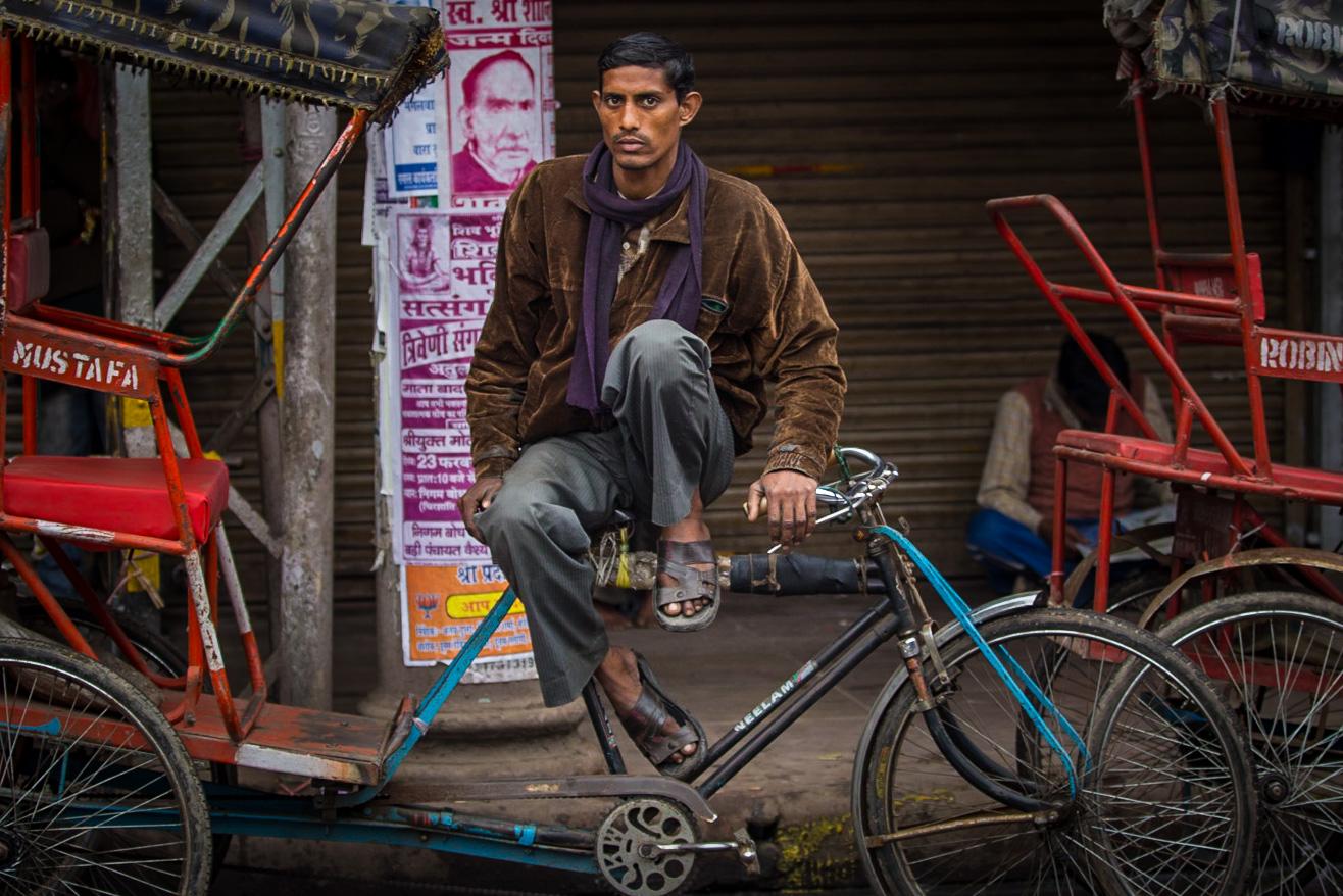 pedal rickshaw, Delhi India