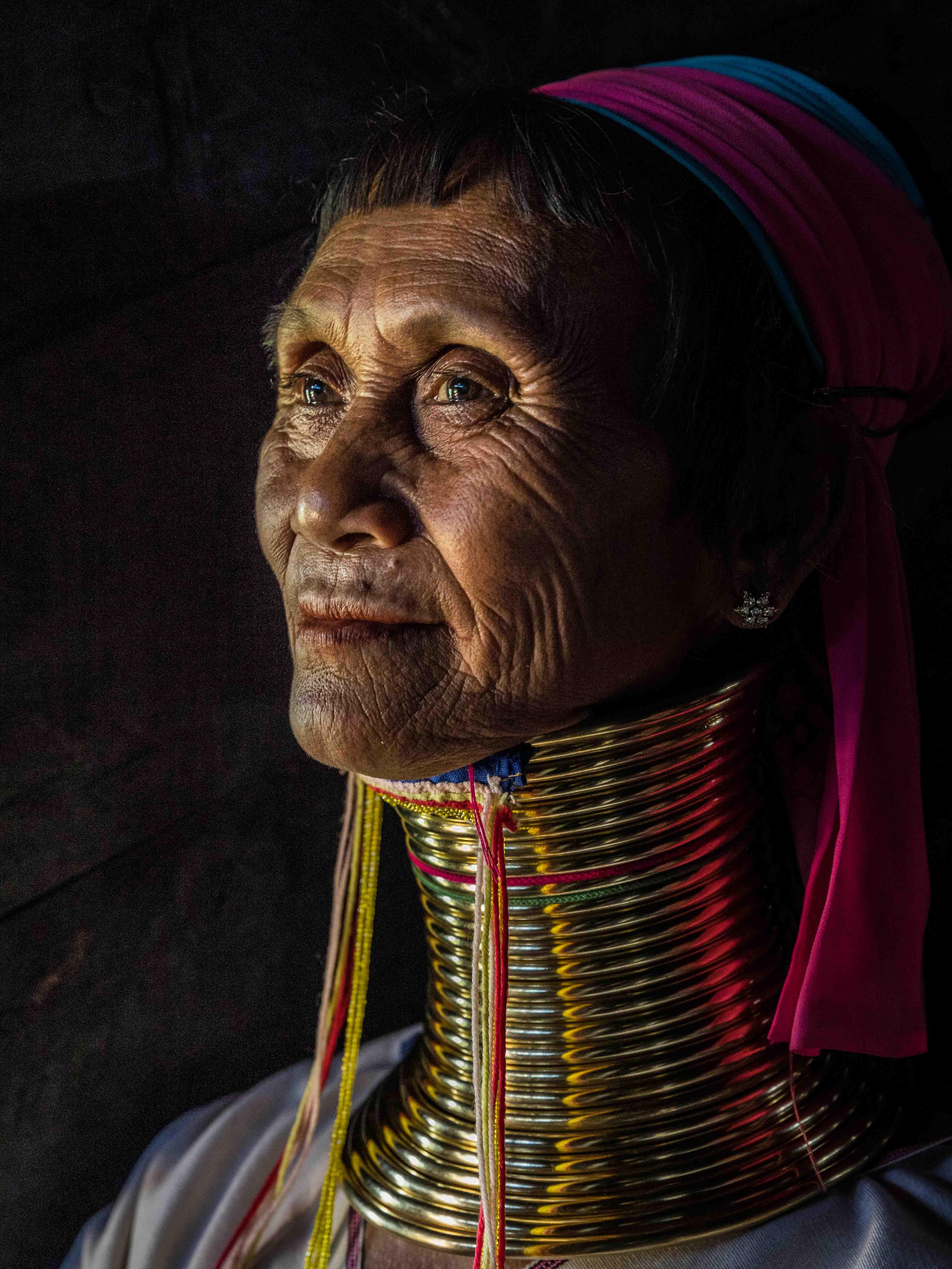 Kayan woman portrait