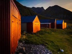 boathouse sunset Unstad