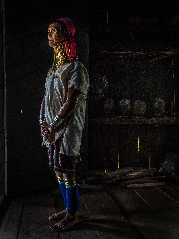 Kayan woman standing