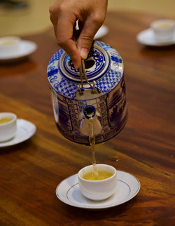 Saigon tea service, Vietnam