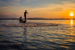 Ayeyarwady net-fishing splash