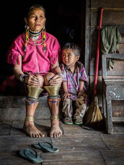 Kayaw woman & grandson