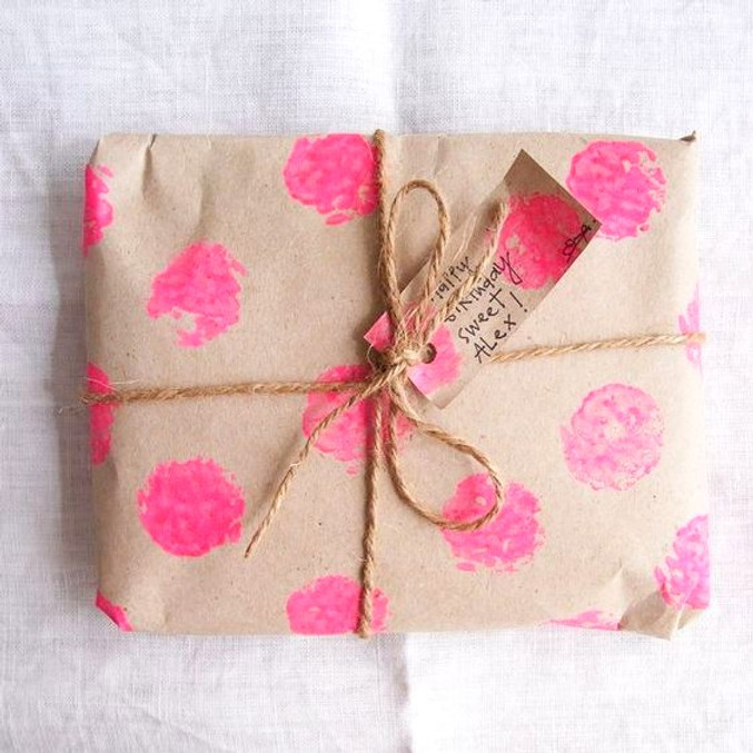 Brown decorative paper wrapping