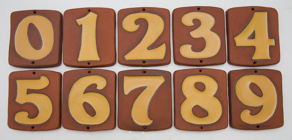Yellow Topanga House Numbers