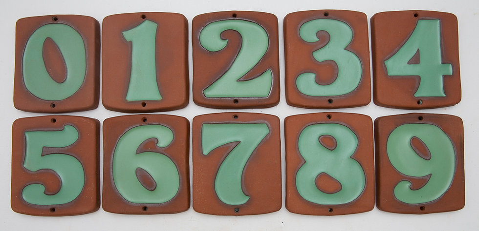 Green Topanga House Numbers
