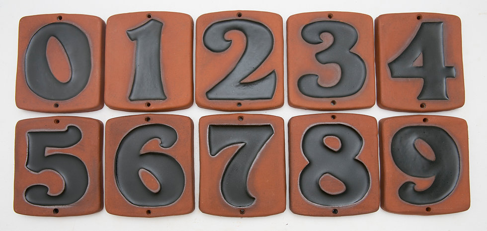 Black Topanga House Numbers