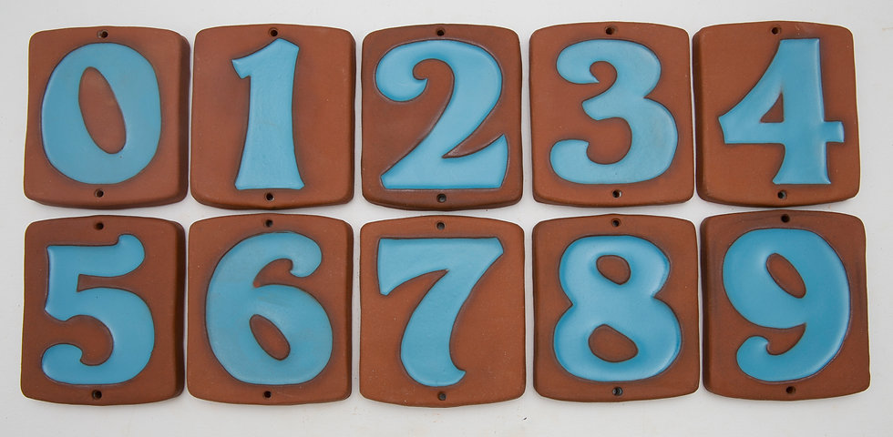 Sky Blue Topanga House Numbers