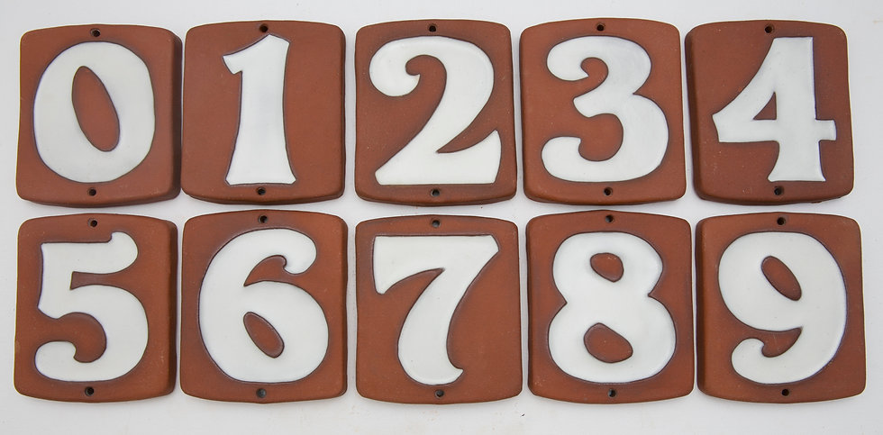 White Topanga House Numbers