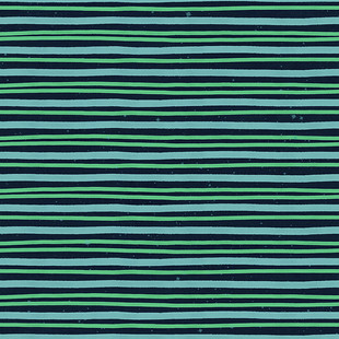 Space Stripes {blue and green}