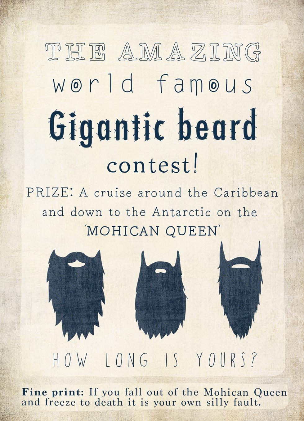 Longest beard poster