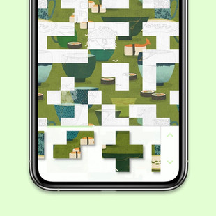 Borderleap Patterned App for Apple Arcade showing pattern being put together on the app