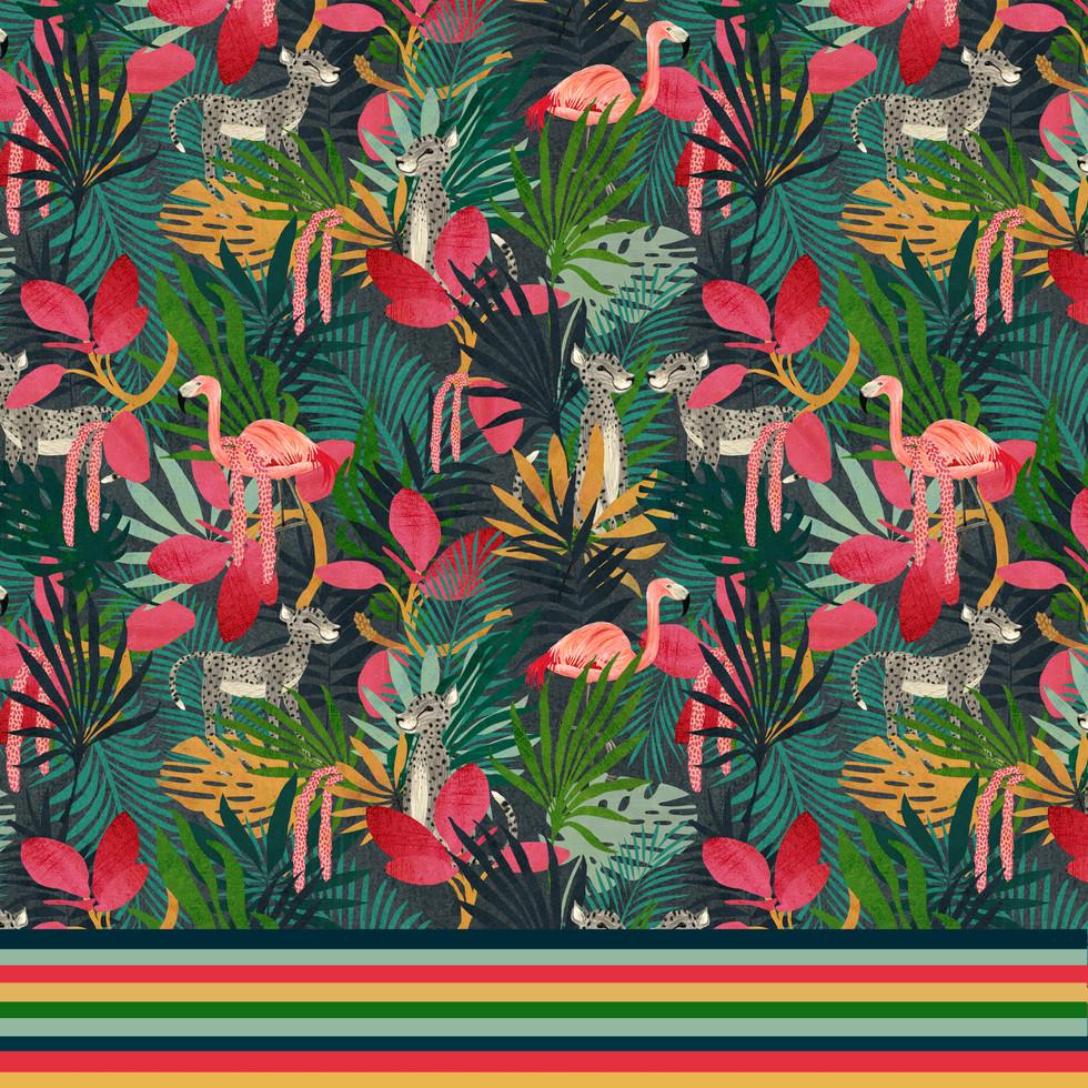 Lush jungle with stripe
