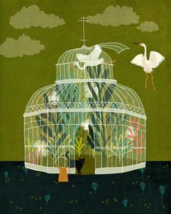 Glass bird house