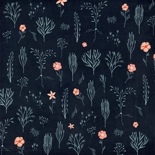 Floral midnight and pink