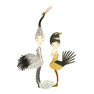Crane and fantail girls