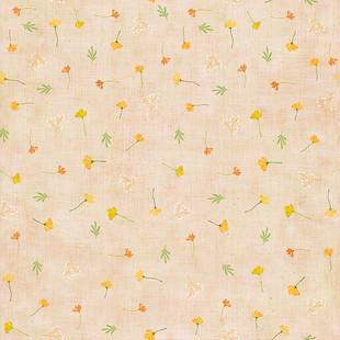 Floral meadow peach