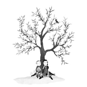 Sitting under the wishing tree