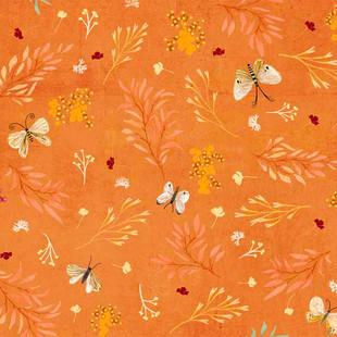 Floral butterfly orange