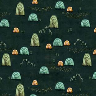 Rainbow Mountain midnight