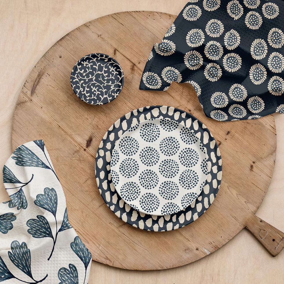 Indigo pattern samples