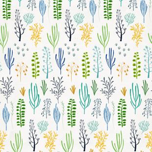 dino florals blue