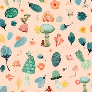 Mushroom Fairies peach