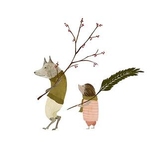 Wolf and hedgehog