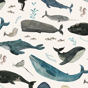 Whale's song blue