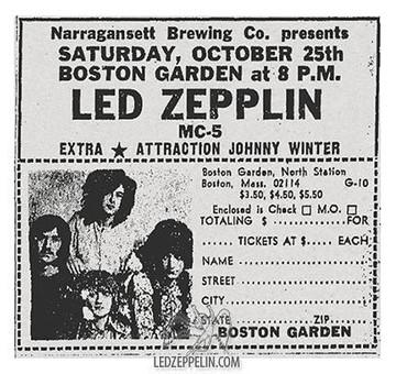 LED ZEPPELIN 25 Oct, 1969