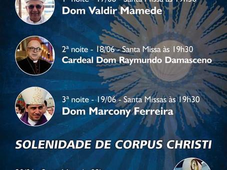 Tríduo em preparação para a festa de Corpus Christi