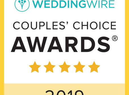 Wedding Wire's Couple's Choice Award 2019 !