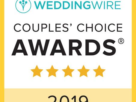 Wedding Wire's Couple's Choice Award 2019 !