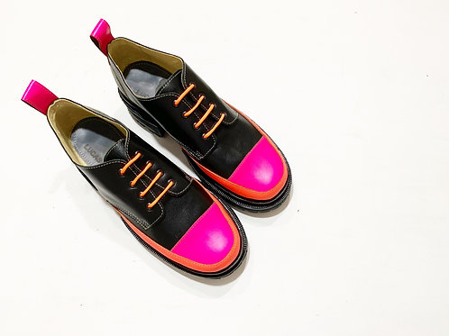 Zapato bomba negro combinado