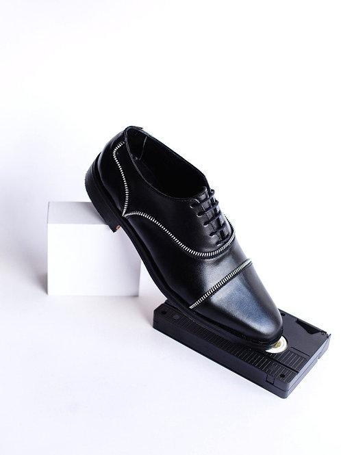 Zapato ingles cierre negro