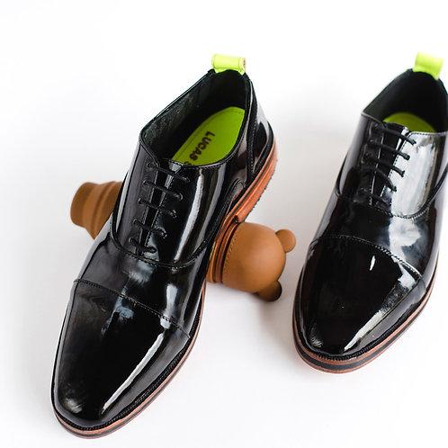 Zapato Ingles charol neon