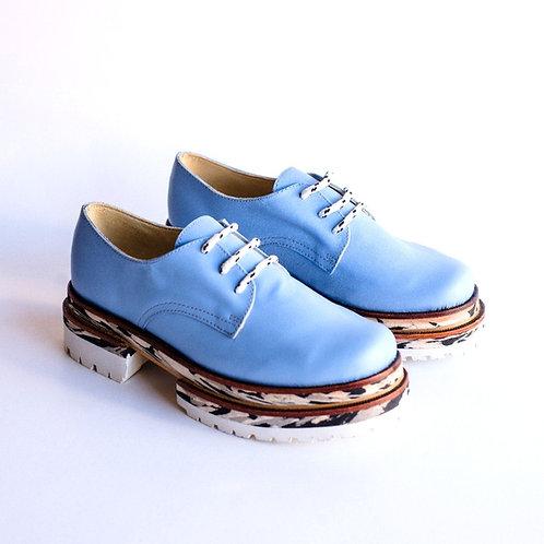 Zapato bomba super celeste camuflado