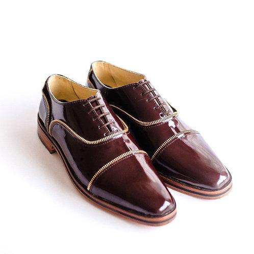 zapato inglés cierre bordo