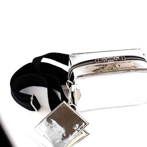 Shoulder Bag Plata espejo
