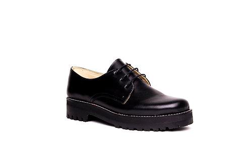 zapato buho alto negro