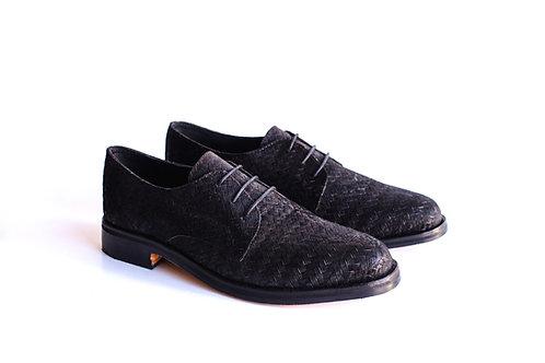 Zapato Tejido negro