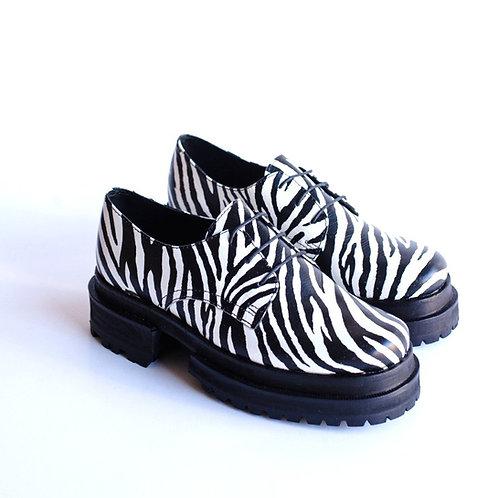 Zapato super bomba cebra